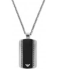 Emporio Armani EGS1921040 メンズなめらかなベルベット2トーン鋼のネックレス