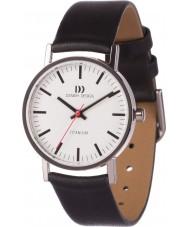 Danish Design V12Q199 レディースブラックレザーストラップの腕時計